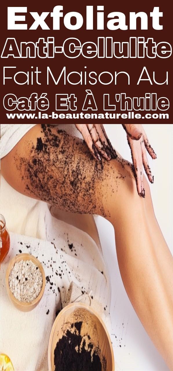 Exfoliant anti-cellulite fait maison au café et à l'huile