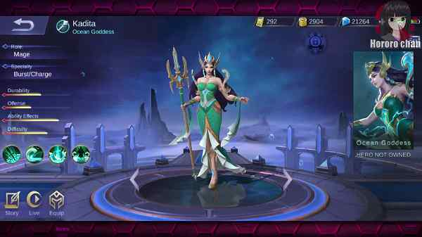 Skill Hero Kadita Mobile Legend
