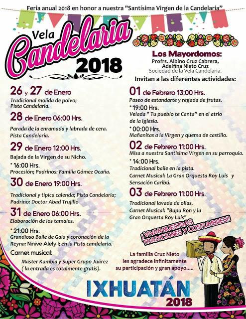 feria de la candelaria ixhuatán 2018