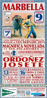 Feria de Marbella 2013 - Cartel Taurino