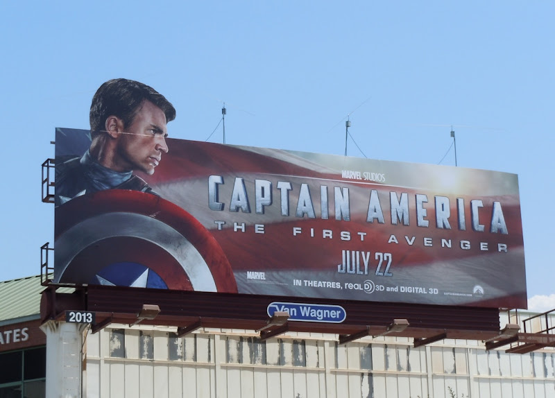 Captain America movie billboard