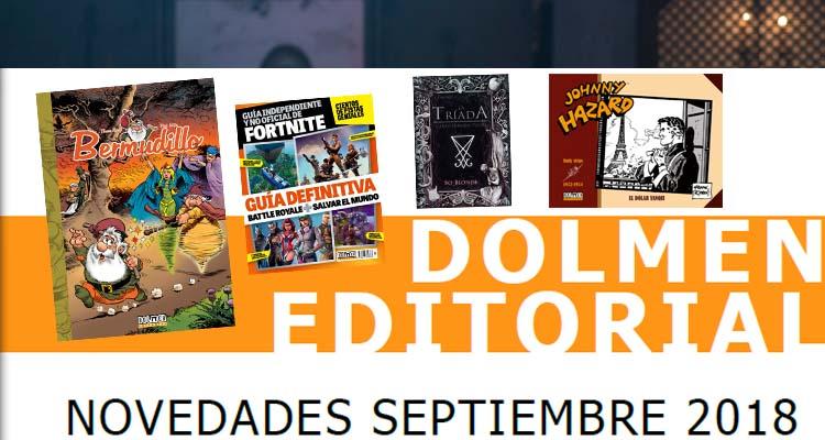 Dolmen Editorial: Novedades Septiembre 2018