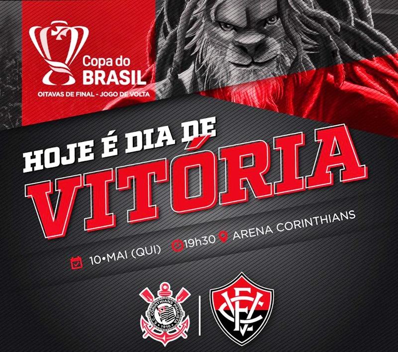 Assistir Corinthians x Vitória ao vivo HD pela Copa do Brasil 1
