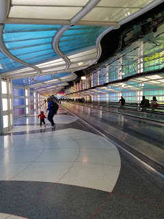 family in the chicago airport