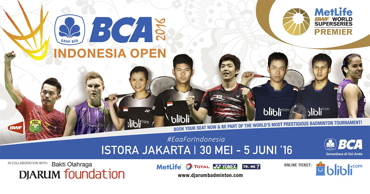 Bwf Indonesia Superseries Premier  Live Streaming Badminton Indonesia Open