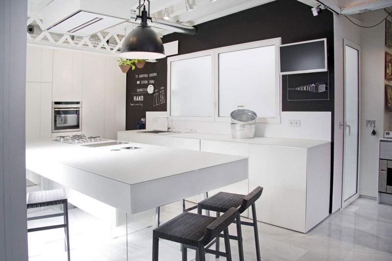 cucina bianca minimal