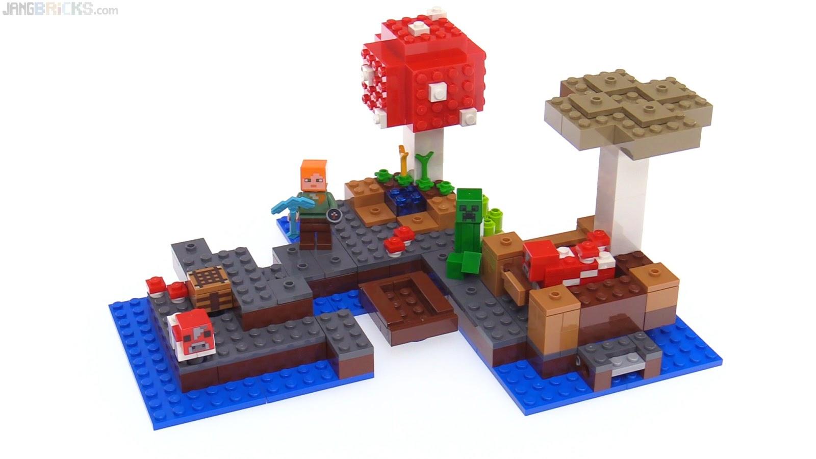 Jangbricks Lego Reviews Mocs February 2017 21133 Minecraft The Witch Hut Mooshroom Island Review 21129