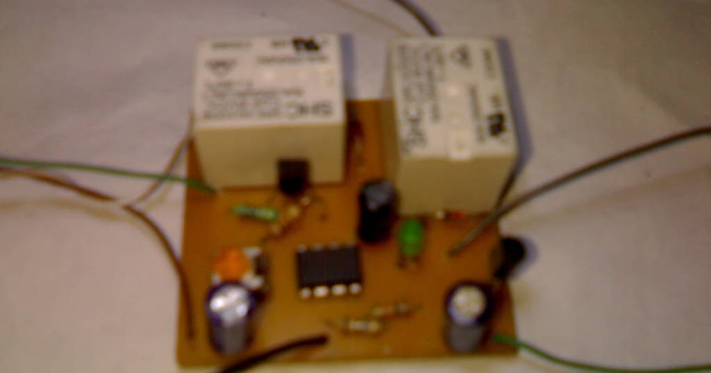 Relay Toggle Circuit Using A 555 Timer Circuit Diagram And