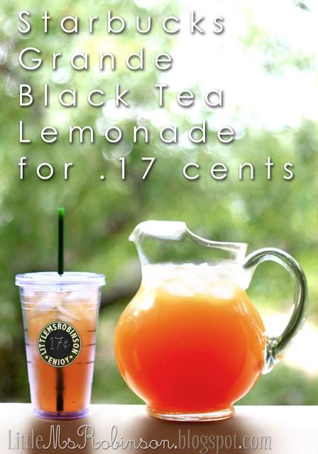 Starbuck's black tea lemonade recipe