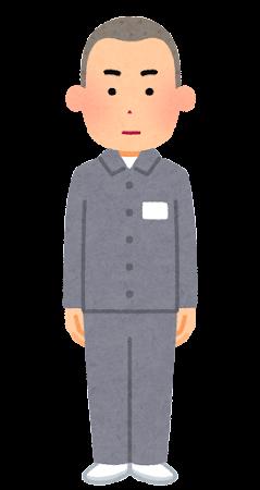 受刑者のイラスト(坊主の男性)