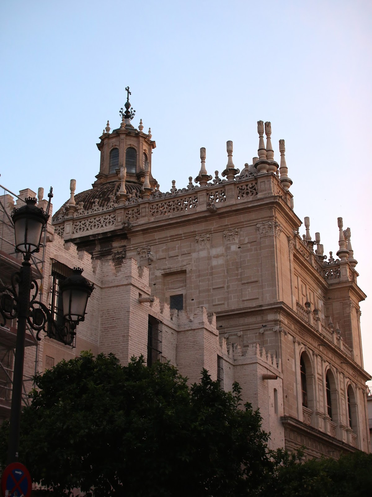 sunset at seville cathedral