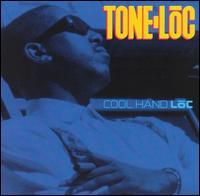 Imagen con la portada del Lp Cool Hand Lōc de Tone Loc, 1991. Muestra al rapero con un puro en su mano izquierda