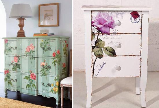 Blog de mbar muebles aprende a decorar tus muebles y for Decoupage con servilletas en muebles
