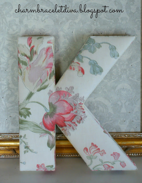 Anthropologie floral monogram letter K