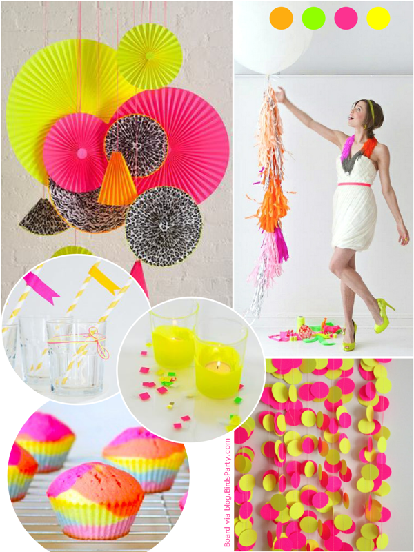 Paint My Party | Inspiration de fête NEON | via BirdsParty.fr