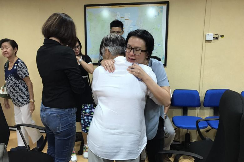 Serene Lee meeting Carmen's maternal grandmother, Madam Lee Sew Ngor, 73.