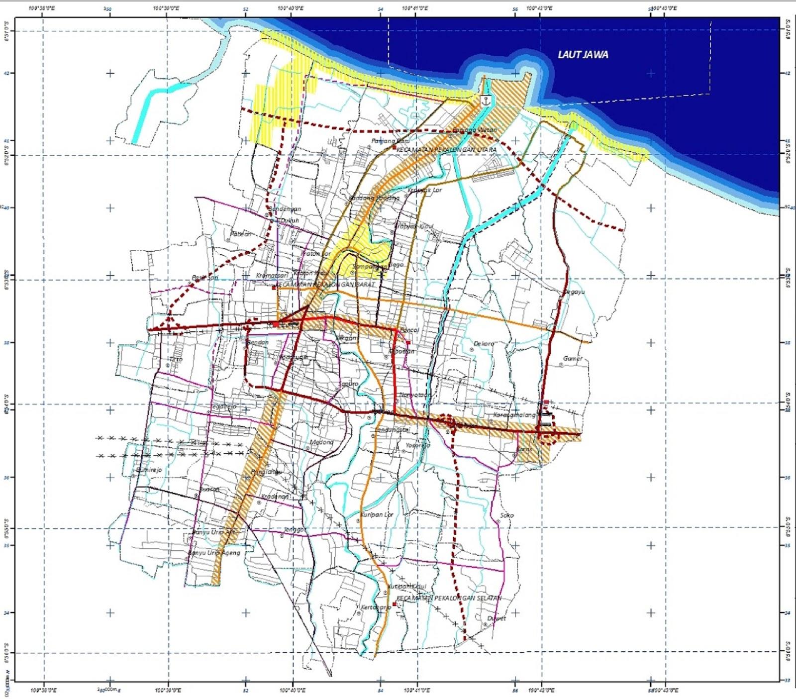 Peta Kota Pekalongan HD
