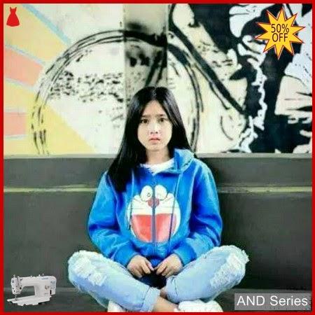 AND115 Sweater Wanita Murah Doraemon Hoodie Text BMGShop