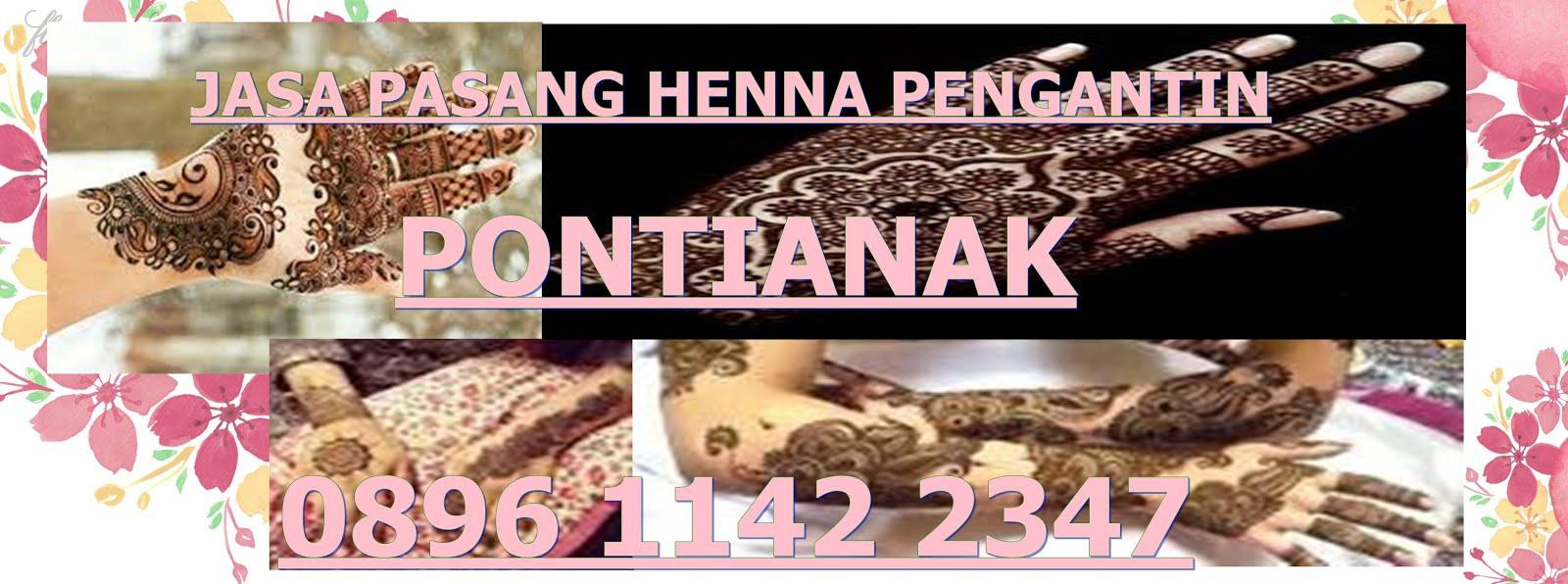 Henna Pernikahan Pontianak 089611422347 Jasa Pasang Henna