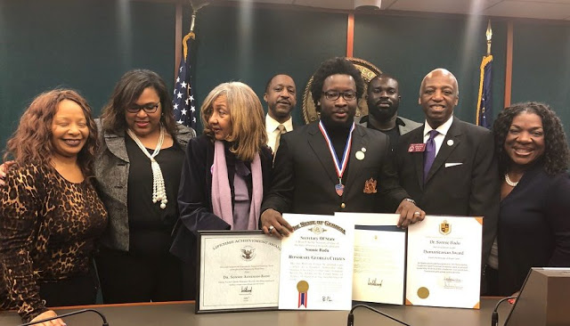 Sonnie Badu Receives Three Awards From The State Of Georgia In The United States