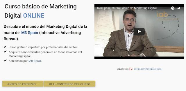 El curso de Marketing Digital de la plataforma 'actívate' ofrece su curso online o presencial