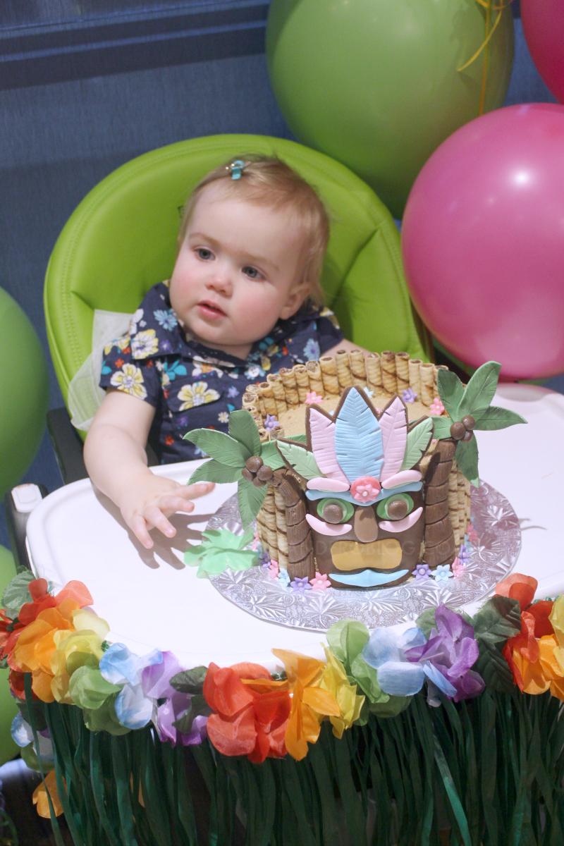Hawaiian Luau Themed First Birthday Party