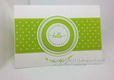 Paperjay Crafts Eastern Palace Lemon Lime Twist Notecard