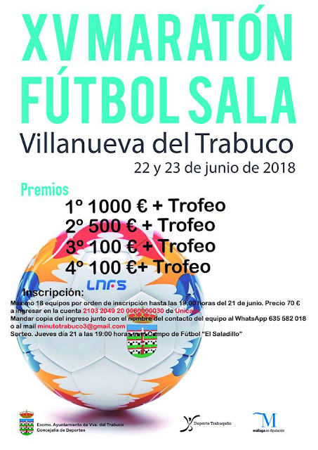 XV Maratón de Fútbol Sala en Villanueva del Trabuco