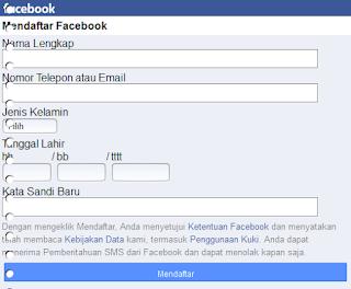 Membuat Akun Facebook Baru