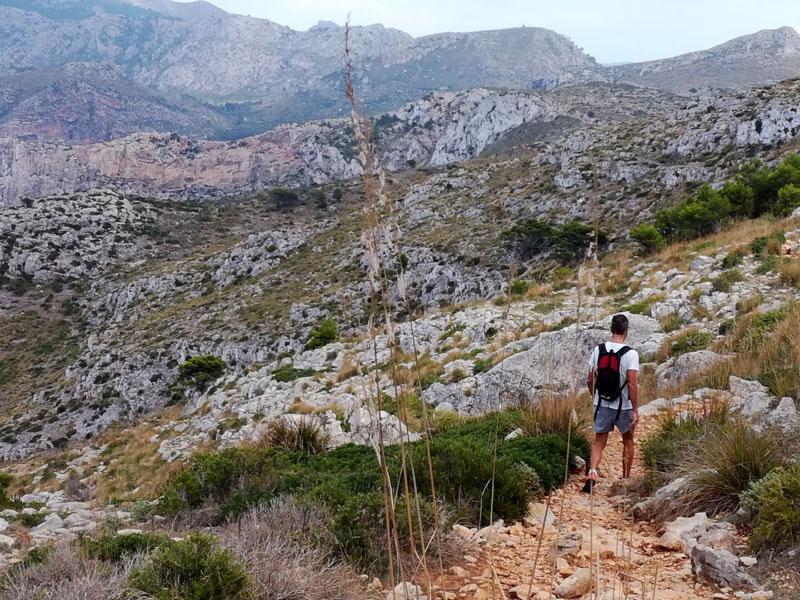 Sentiero verso La Trapa sull'isola di Maiorca