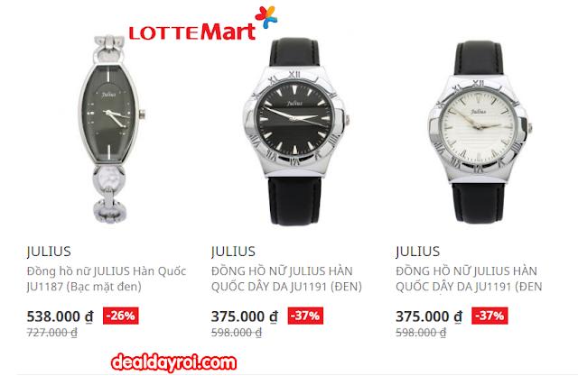 đồng hồ hàn quốc, đồng hồ julius, lotte, deal đây rồi, deal khuyến mãi