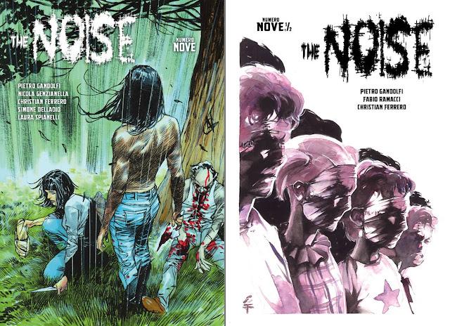 The Noise: cover degli albi 9 e 9.5