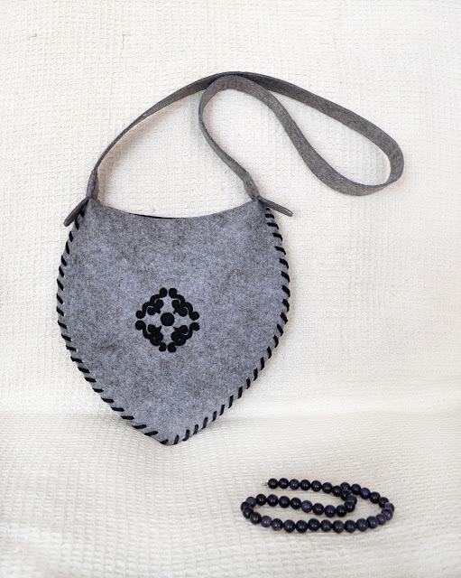 сумка с орнаментом ручной работы