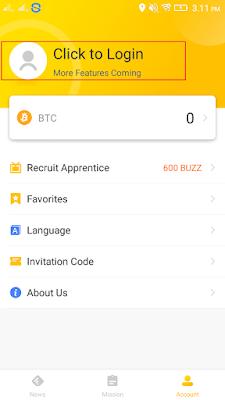 cara masuk di aplikasi ExBuzz Android