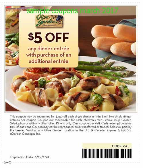 Olive garden coupon 2018 april