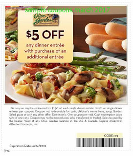 Olive Garden coupons march