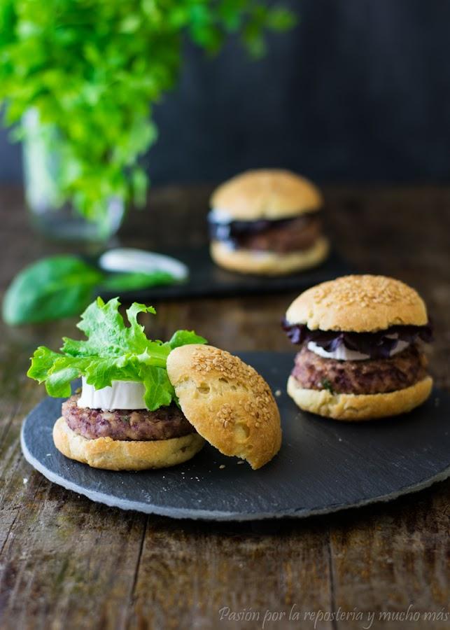 Mini hamburguesas de legumbres y arroz