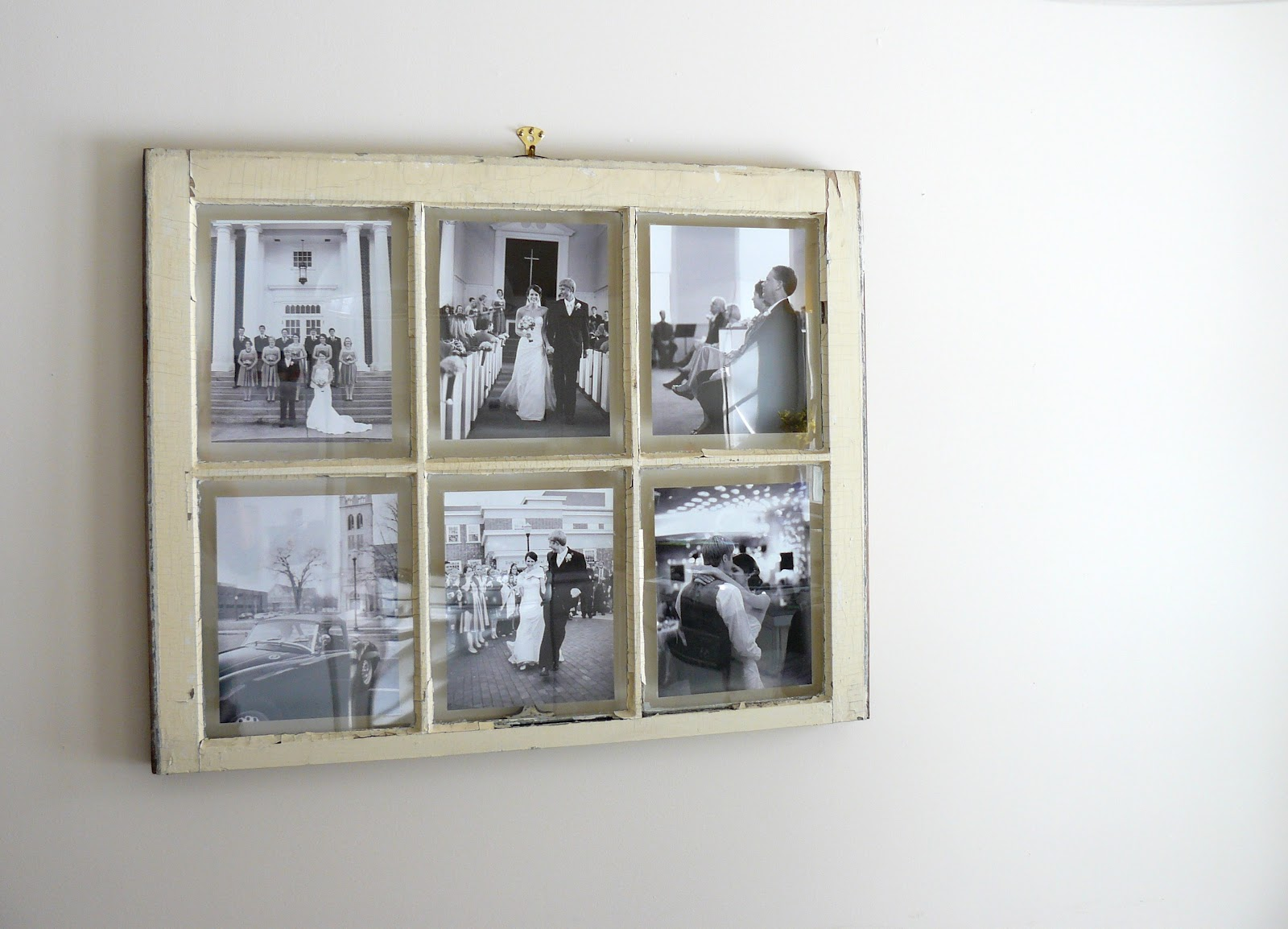 The Woven Home: Home Decor Projects: Old Window Picture Frame