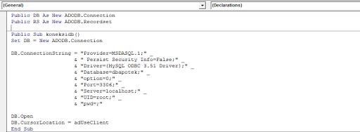 Cara Menghubungkan / Koneksi Visual Basic 6.0 ke database MySQL