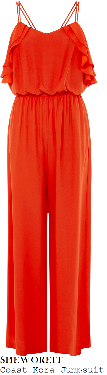 lucy-jo-hudson-coast-kora-red-sleeveless-double-strap-frill-detail-wide-leg-jumpsuit