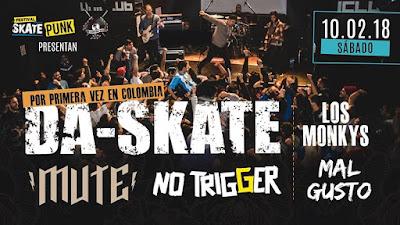 Concierto de DA-SKATE Y NO TRIGGER en Bogotá