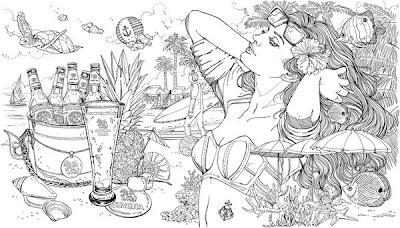 Obra de arte a lápiz de mujer