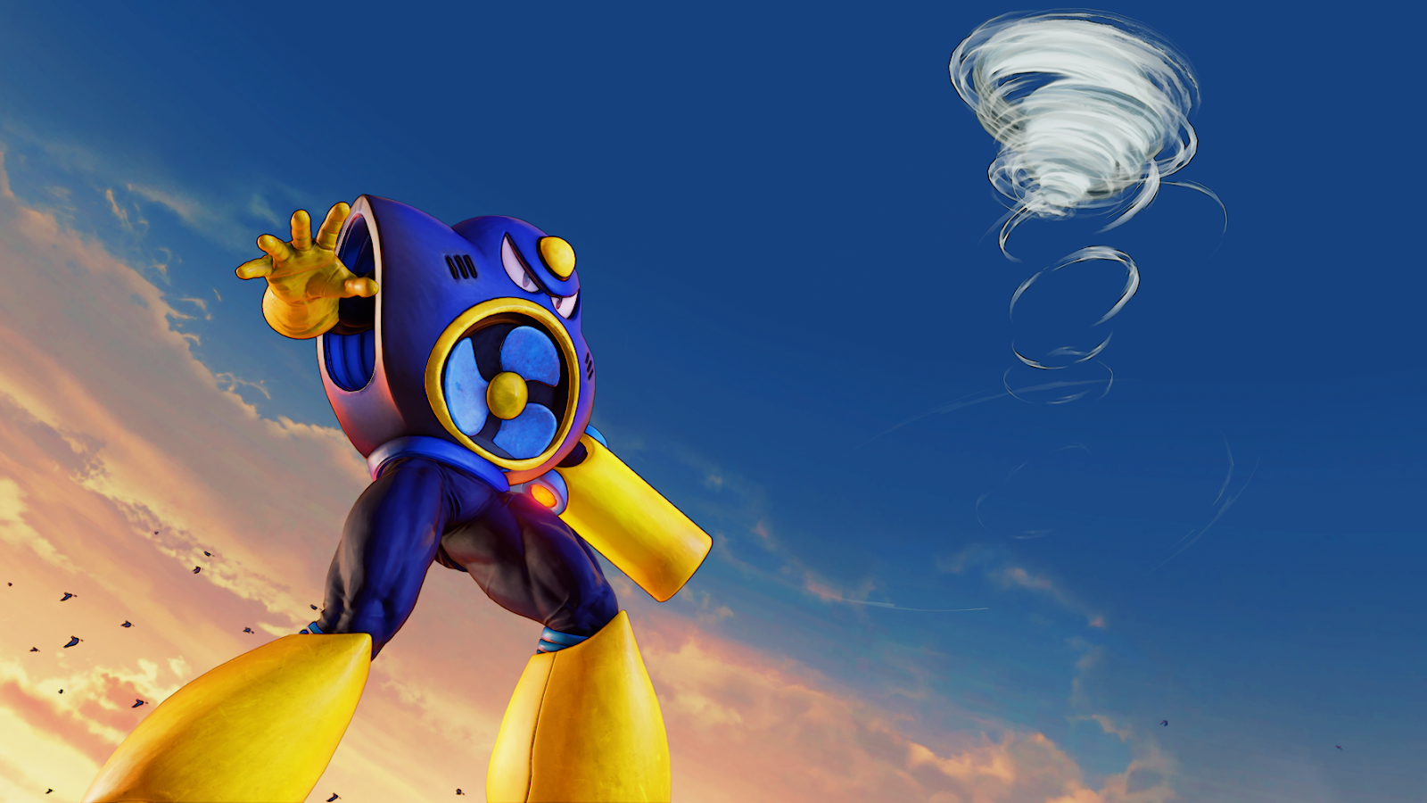 Rockman Corner Air Man Costume Coming Soon To Street Fighter V Arcade Edition