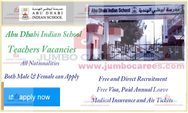 how to apply for latest teachers jobs in Abu Dhabi, UAE teachers job vacancies,