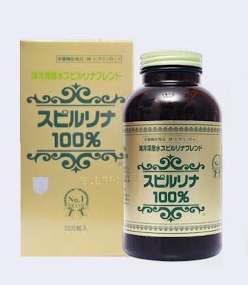 Tảo Spirulina Nhật bản - Tảo Xoắn Nhật bản hỗ trợ tăng cân