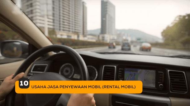 10. Usaha Jasa Penyewaan Mobil (Rental Mobil)