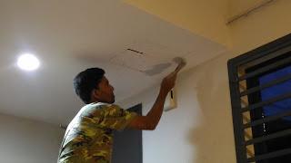 Warih Homestay - Kerja Tampalan Plaster Siling 1