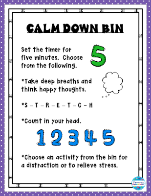 Free directions for a calm down bin