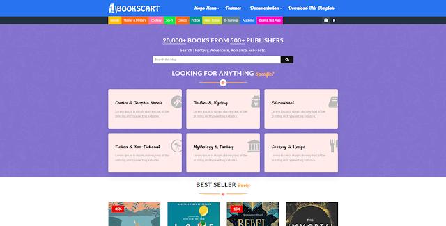 szablony Blogpost księgarnia internetowa