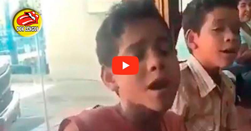 Chinito y Nachito sorprenden con sus voces a pesar del hambre